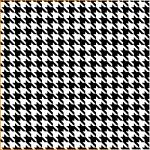 "Printed Pattern Vinyl - Black and White Houndstooth 12"" x 24"" Sheet"