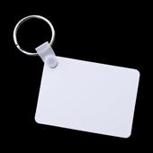 """Unisub Two Sided Rectangle Aluminum Keychain - 1.6"""" x 2. I 25"""""""