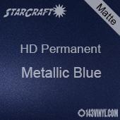 """12"""" x 24"""" Sheet - StarCraft HD Matte Permanent Vinyl - Metallic Blue"""