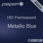 "12"" x 10 Yard Roll - StarCraft HD Matte Permanent Vinyl - Metallic Blue"