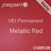 "12"" x 5' Roll - StarCraft HD Matte Permanent Vinyl - Metallic Red"