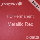 """12"""" x 12"""" Sheet - StarCraft HD Matte Permanent Vinyl - Metallic Red"""