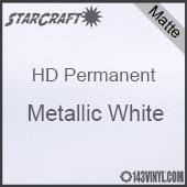 "12"" x 5' Roll - StarCraft HD Matte Permanent Vinyl - Metallic White"