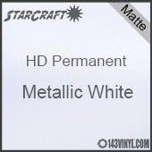 "24"" x 10 Yard Roll - StarCraft HD Matte Permanent Vinyl - Metallic White"