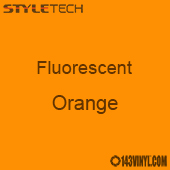 "StyleTech Fluorescent - Orange - 12"" x 24"" Sheet"