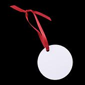 """Unisub Aluminum Circle Ornament - 2.75"""""""