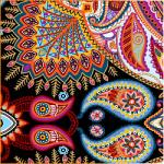 "Printed Pattern Vinyl - Ornate Paisley 12"" x 24"" Sheet"