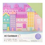 """American Craft Cardstock Textured Variety Pack 60 12"""" x 12"""" Sheets - Pastels"""
