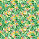 "Printed Pattern Vinyl - Pineapple Paradise - 12"" x 24"""