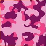 "Printed HTV Pink Woodland Camo Print 12"" x 15"" Sheet"