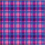 "Printed Pattern Vinyl - Purple Blue Plaid 12"" x 24"" Sheet"