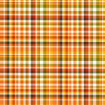 "Printed Pattern Vinyl - Pumpkin Plaid 12"" x 24"" Sheet"