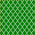 "Printed Pattern Vinyl - Green and White Quatrefoil 12"" x 12"" Sheet"