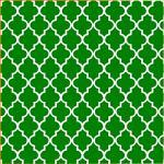 "Printed Pattern Vinyl - Green and White Quatrefoil 12"" x 24"" Sheet"