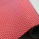 "Printed Pattern Vinyl - Red and White Quatrefoil 12"" x 12"" Sheet"