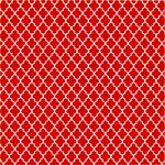 "Printed Pattern Vinyl - Red and White Small Quatrefoil 12"" x 12"" Sheet"