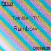 "12"" x 20"" Sheet Siser Twinkle HTV - Rainbow"