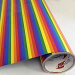 "Printed Pattern Vinyl - Rainbow / Gay Pride Stripe 12"" x 24"" Sheet"