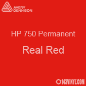 """Avery HP 750 - Real Red- 12"""" x 5 Foot"""