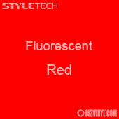 """StyleTech Fluorescent - Red - 12"""" x 24"""" Sheet"""