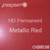 "12"" x 12"" Sheet - StarCraft HD Glossy Permanent Vinyl - Metallic Red"