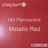 "24"" x 10 Yard Roll - StarCraft HD Glossy Permanent Vinyl - Metallic Red"