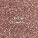 "Glitter HTV: 12"" x 5 Yard Roll - Rose Gold"