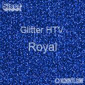 """Glitter HTV: 12"""" x 5 Yard Roll - Royal"""