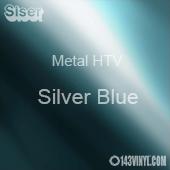 "12"" x 20"" Sheet Siser Metal HTV - Silver Blue"