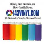 143VINYL Adds Skinny Can Coolers to Product Line