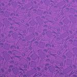 "Printed Pattern Vinyl - So Crafty - Purple - 12"" x 24"" Sheet"