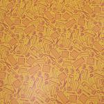 "Printed Pattern Vinyl - So Crafty - Yellow - 12"" x 24"" Sheet"