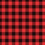"Printed HTV Red and Black Buffalo Plaid Print 12"" x 15"" Sheet"
