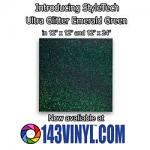 143VINYL Adds NEW Emerald Green Color Of StyleTech Ultra Glitter To Product Line