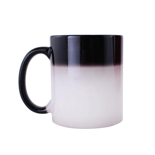 Sublimation Ceramic Black Color Changing Mug - 11 oz.