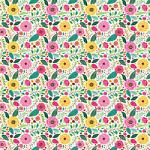 """Printed Pattern Vinyl - Summer Blooms - 12"""" x 12"""""""