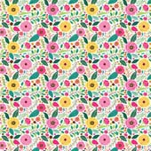 """Printed HTV - Summer Blooms  - 12"""" x 15"""""""