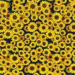"Printed Pattern Vinyl - Sunflowers 12"" x 24"" Sheet"