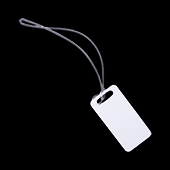 """Unisub Two Sided Rectangle Bag Tag with Loop - 1.75"""" x 3.5"""""""