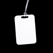 Unisub Two Sided Rectangle Aluminum Bag Tag with Loop 2.75 x 4