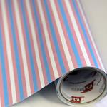 "Printed Pattern Vinyl - Transgender / Cotton Candy Stripe 12"" x 24"" Sheet"