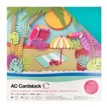 """American Craft Cardstock Textured Variety Pack 60 12"""" x 12"""" Sheets - Tropicals"""