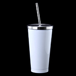 Sublimation Stainless Steel White Latte Cup 16 oz