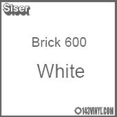 "12"" x 20"" Sheet Siser Brick 600 HTV - White"