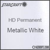 "12"" x 24"" Sheet - StarCraft HD Glossy Permanent Vinyl - Metallic White"