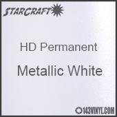 "12"" x 5' Roll - StarCraft HD Glossy Permanent Vinyl - Metallic White"