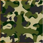 "Printed Pattern Vinyl - Green Woodland Camo 12"" x 24"" Sheet"