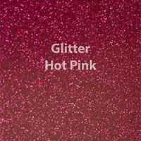 "Glitter HTV: 12"" x 5 Yard Roll - Hot Pink"