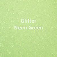 "Glitter HTV: 12"" x 20"" - Neon Green"