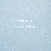 "Glitter HTV: 12"" x 20"" - Neon Blue"